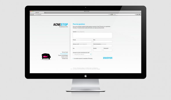 AcneStop website