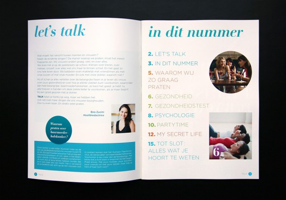 Talk Magazine spreads