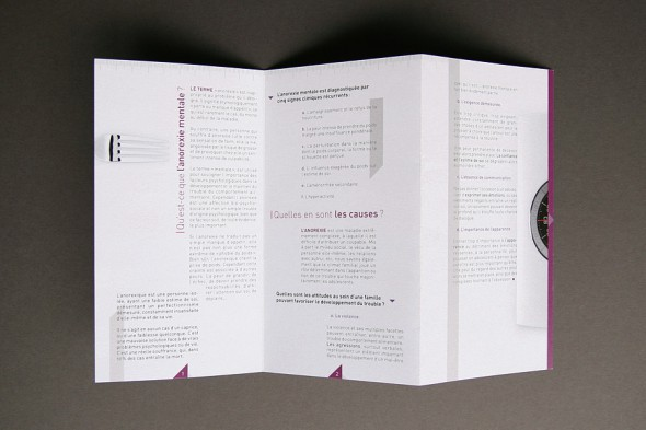 Anorexia Awareness Campaign leaflet