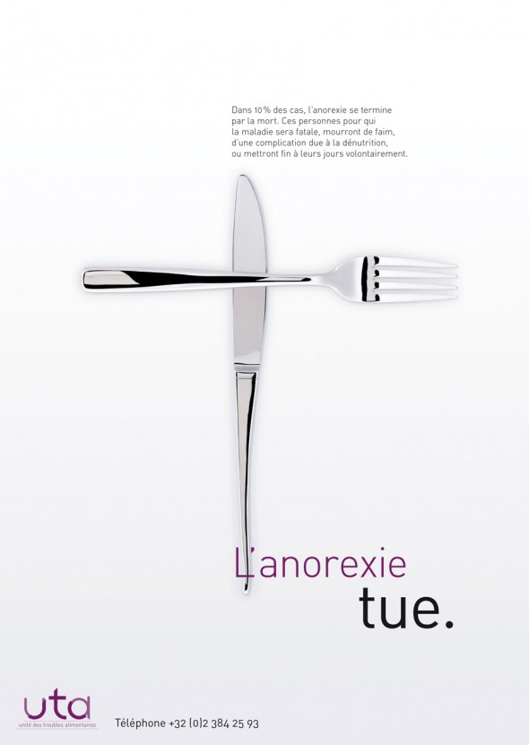 Anorexia Awareness Campaign poster